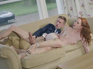 Big boner brings red-haired hottie Ella Hughes new sensations