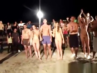 Fraternity games taking place in beach
