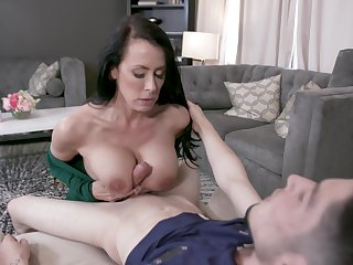 Mature with perfect tits, smashing step son sexual fantasy