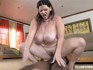 BBW latina with big tits and a cake