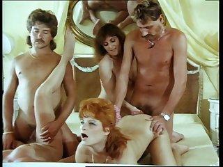 Hardcore group shagging in vintage XXX film