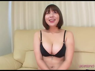 Horny Asian woman is having fun in her first time porn casting.