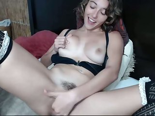 Hot masturbation and I wish I was there to relieve her snatch with my tongue