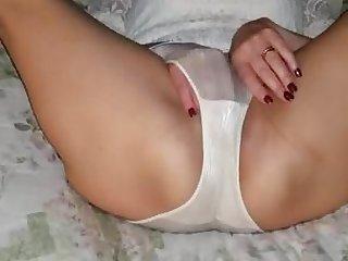 Wife in pantyhose masturbate
