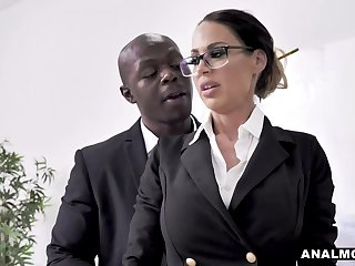 Jaw-Dropping secretary makes husband cheat w relief!