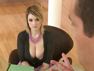 Big tits MILF secretary hard fuck