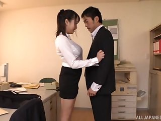 Quickie fucking in the office with busty secretary Etou Yui