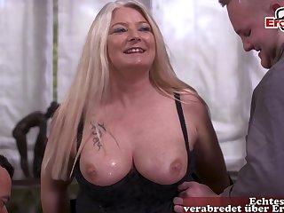 German bbw chubby big tits milf threesome mmf