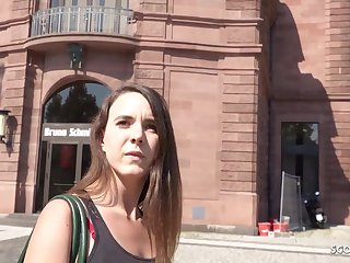 GERMAN SCOUT - PUBLIC RECTAL ORGY FOR CASH WITH LIL' NYMPH MINA
