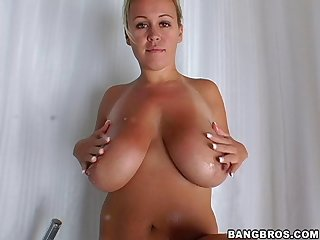 Natural breasts wife Brandy Talore moans during passionate sex