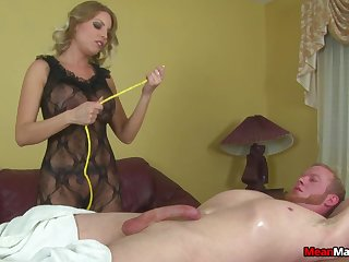 Dirty MILF pleasures stiff dick of her lucky client. HD video