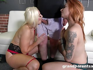 Serious inches for these two sluts pleased to share