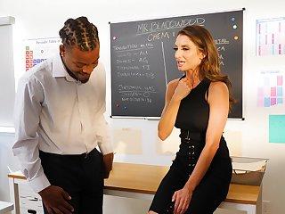 Wild interracial fucking with fit mature tutor Silvia Saige