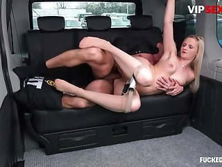 Chauffeur Chafes MILF Client  s Pussy w Hard Cock