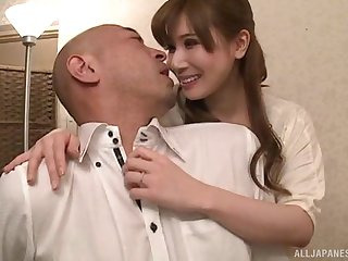 Appealing nurse deals man's cock in perfect Japanese kink